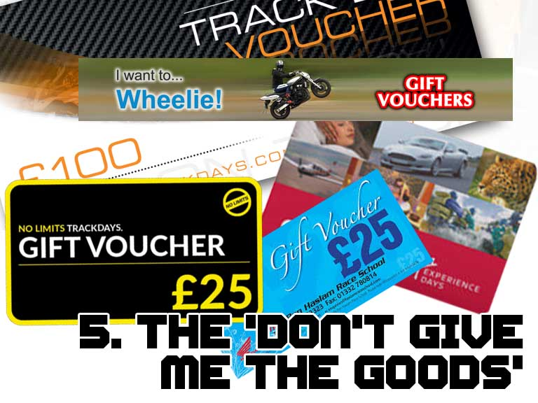 Track day vouchers