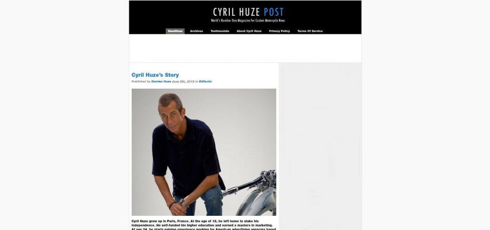 Cyril Huze Motorcycle Blog