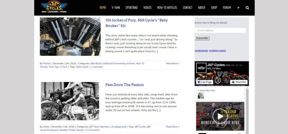 J&P Motorcycle Blog